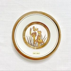 Gorgeous vintage Chokin plate.Gilded with 24k gold